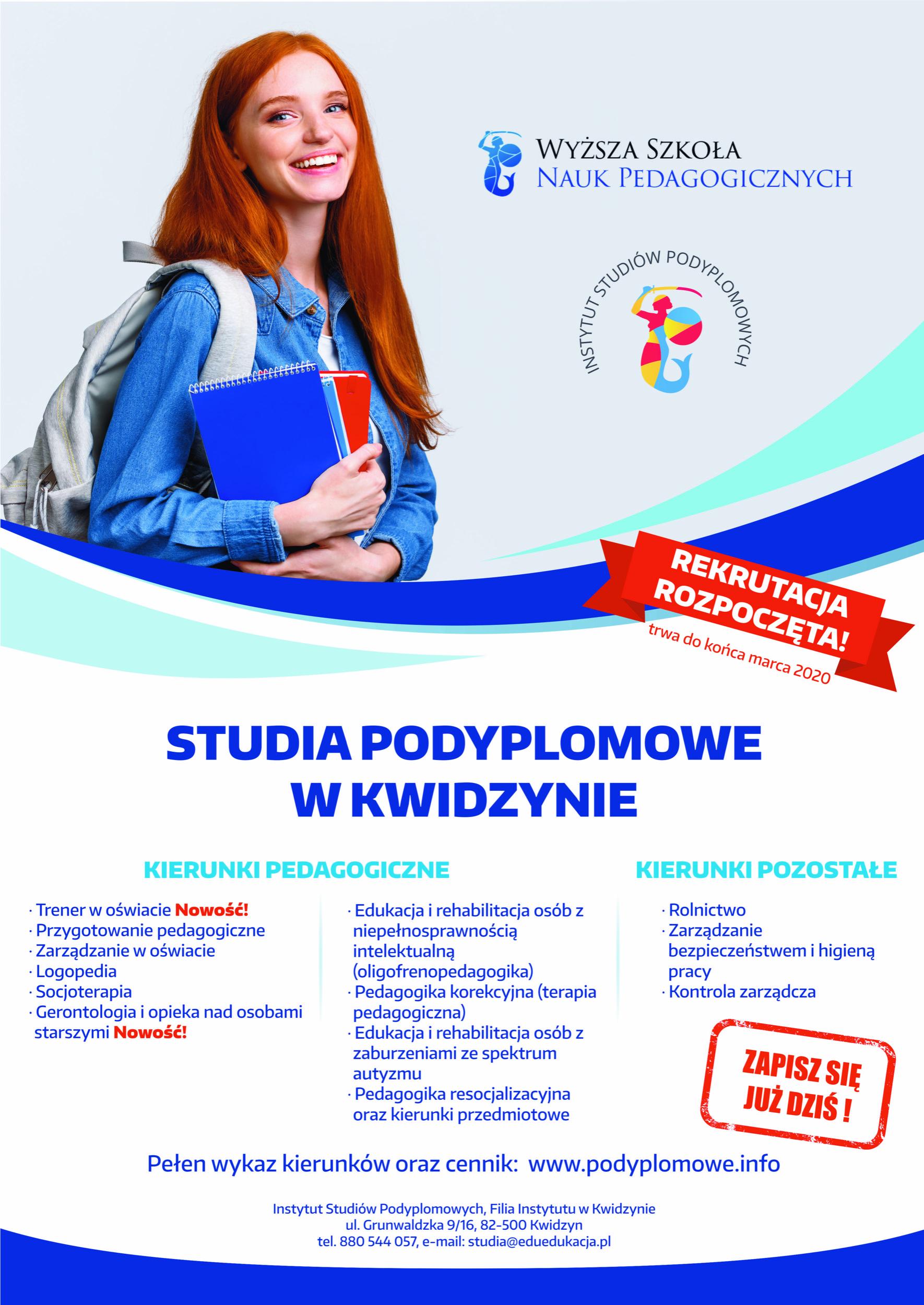 Studia Podyplomowe Kwidzyn Zapisz się !